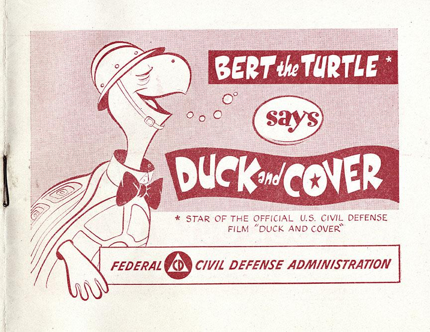 Duck and Cover, Civil Defense Pamphlet. 1951. Oregon Historical Society